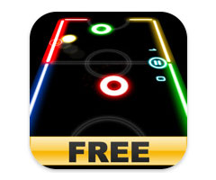 Jeu Glow Hockey Free iPhone