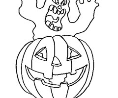 Coloriage A Halloween