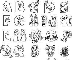 Coloriage Ab�c�daire Animaux