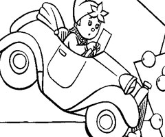 Coloriage Accident de Voiture