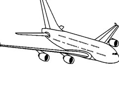 Coloriage Airbus A380