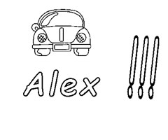 Coloriage Alex