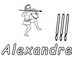 Coloriage Alexandre
