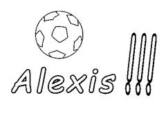 Coloriage Alexis