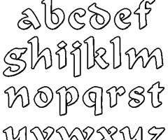 Coloriage Alphabet Celtique