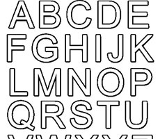 Coloriage Alphabet Simple