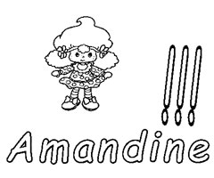 Coloriage Amandine