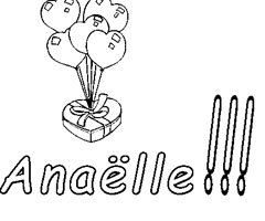 Coloriage Anaëlle