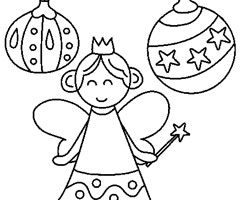 Coloriage Ange de No�l