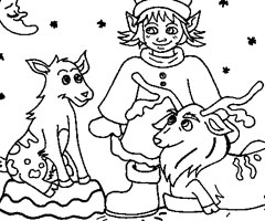 Coloriage Animaux No�l