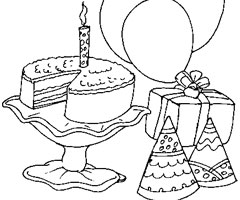 Coloriage Anniversaire 1 An