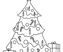 Coloriage Arbre de No�l