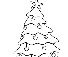 Coloriage Arbre No�l