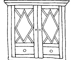 Coloriage Armoire