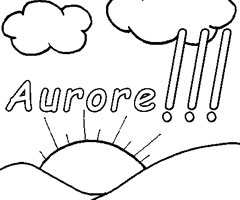 Coloriage Aurore