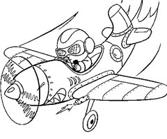 Coloriage Aviation