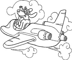 Coloriage Avion � R�action
