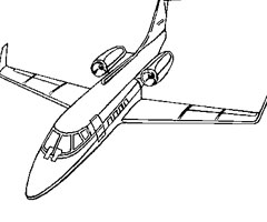 Coloriage Avion Airbus