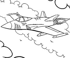 Coloriage Avion Chasse