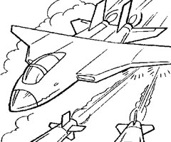 Coloriage Avion Guerre