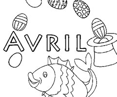 Coloriage Avril