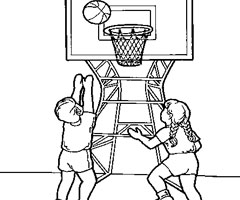 Coloriage Basketball