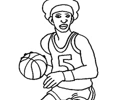Coloriage Basketteur
