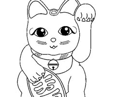 Coloriage B�b� Chat
