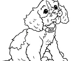 Coloriage B�b� Chiot