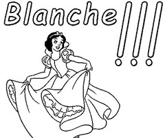 Coloriage Blanche