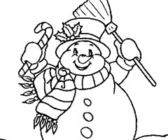 Coloriage Bonhomme No�l