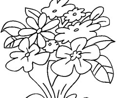 Coloriage Bouquet
