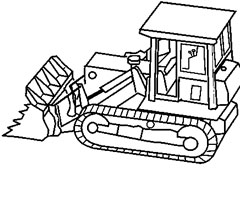 Coloriage Bulldozer