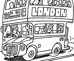 Coloriage Bus Anglais