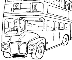 Coloriage Bus Londres