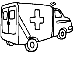 Coloriage Camion Ambulance