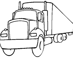 Coloriage Camion de transport