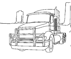 Coloriage Camions