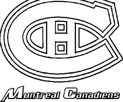 Coloriage Canadiens de Montreal