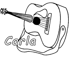 Coloriage Carla