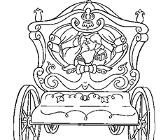 Coloriage Carrosse Cendrillon