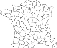 Coloriage Carte de France