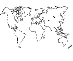 Coloriage Carte du Monde