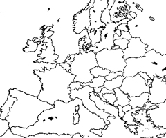Coloriage Carte Europe