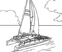 Coloriage Catamaran