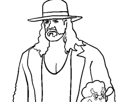 Coloriage Catcheur Undertaker
