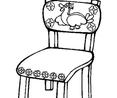 Coloriage Chaise