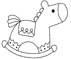 Coloriage Cheval � Bascule