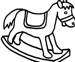 Coloriage Cheval Bascule
