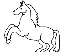 Coloriage Cheval cabr�